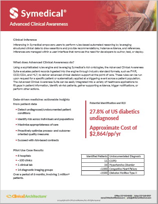 Advanced Clinical Awareness - Clinical Inferencing Data Sheet